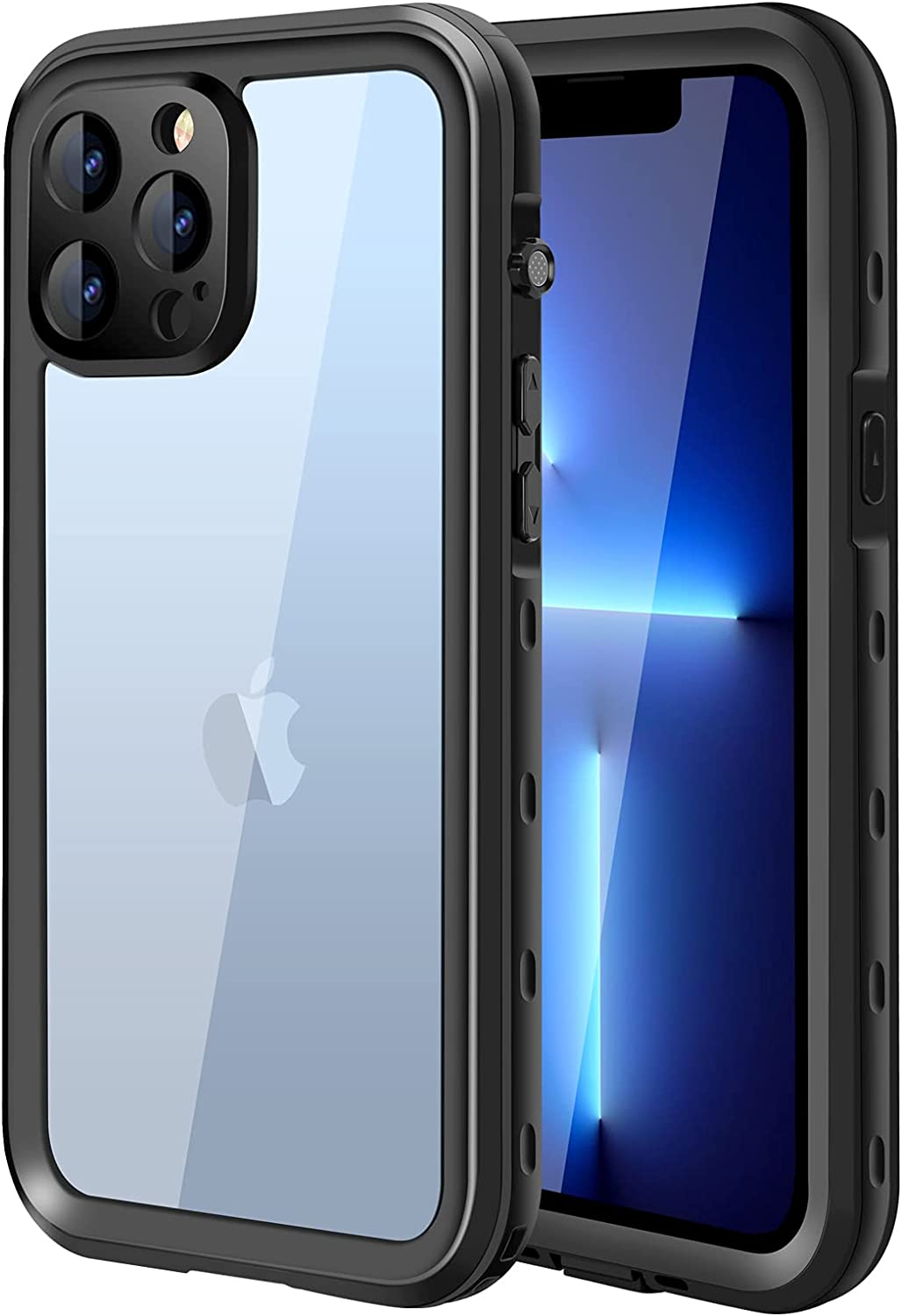 TAKED for iPhone 13 Pro Waterproof Case, IP68 Underwater Case Built-in Screen Protector 360°Full Body Sealed Heavy Duty Protective Cover Shockproof Snowproof for iPhone 13 Pro 6.1
