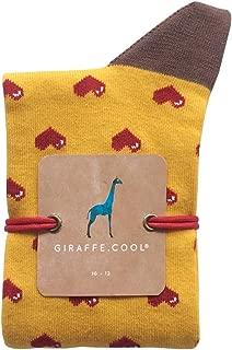 Giraffe Cool Calcetín para Hombre de Color Mostaza Love