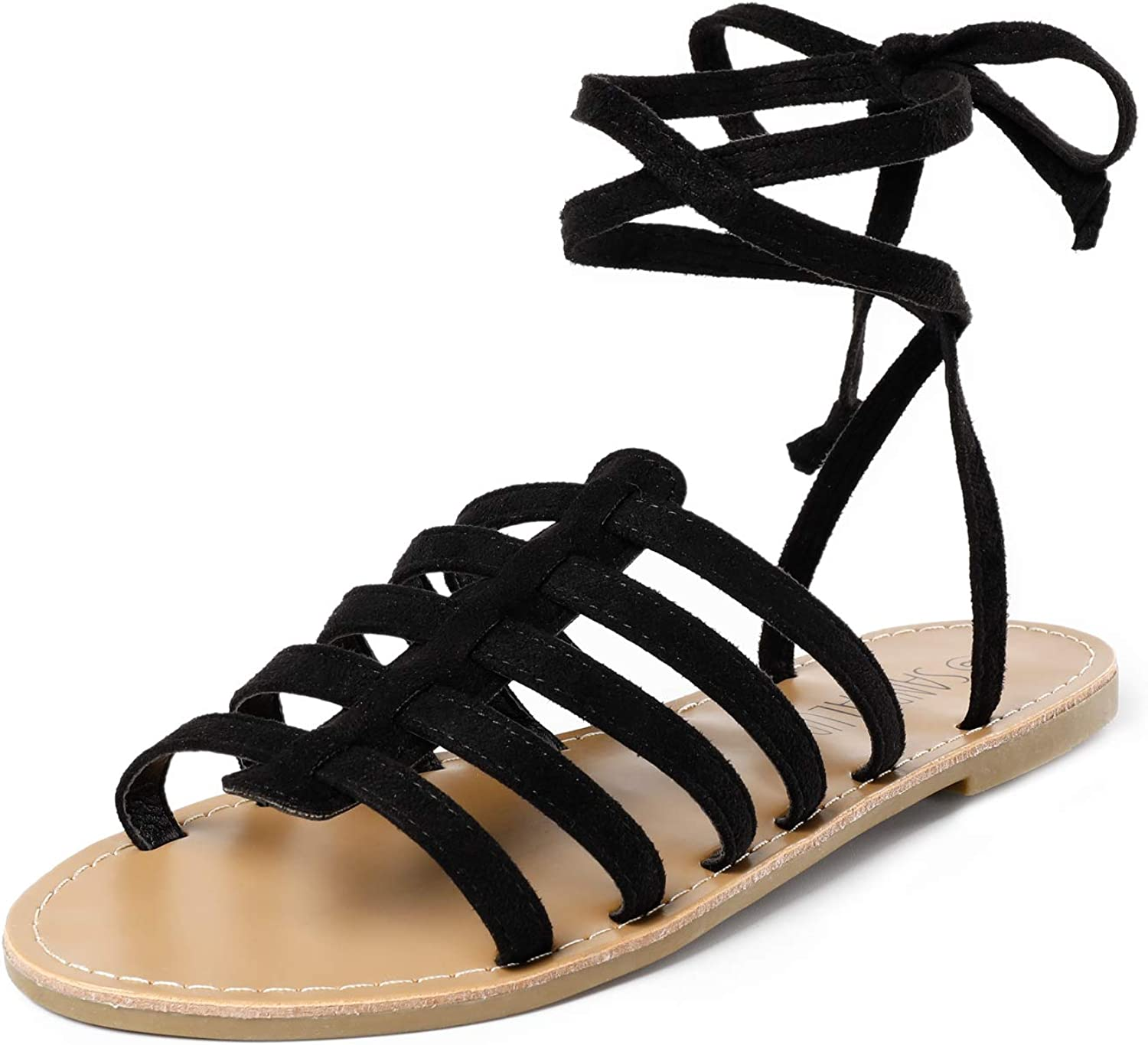 SANDALUP Gladiator Sandal Lace Clearance SALE Limited time Award up Summer Sandals for Flat Women
