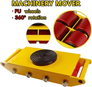 Machinery Mover, Industrial Machinery Mover 26000lb 12T Machinery Skate Polyurethane Steel Rollers Cap with 8 Rollers 360°Rotation (12T)