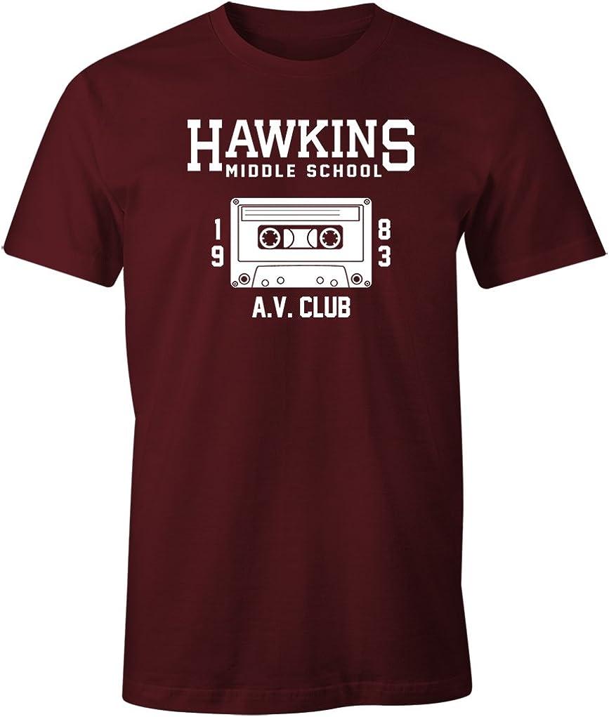 538 Hawkins Middle School AV Club mens T-shirt stranger tv show things costume