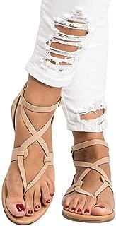 Women Shoes Ankle Roman Sandals ShoesFashion Cross Strap Flat Sandals