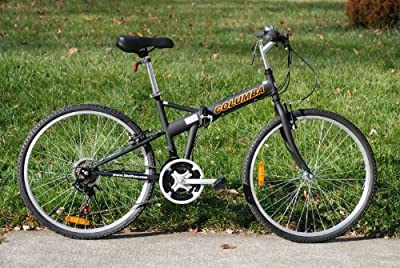 Columba 26 inch Folding Bike w. 18 Speed Black (SP26S_BLK)