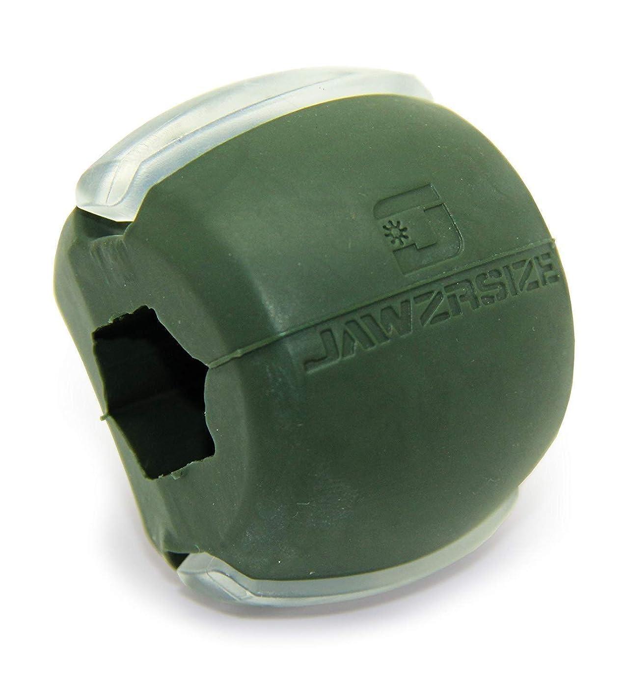 戻す宣言する凍結Jawzrsize フェイストナー、ジョーエクササイザ、ネックトーニング装置 (50 Lb. 抵抗) レベル3 - ミリタリーグリーン
