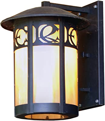 Standard Dimmable 60W Max. Glass Shade Material Dry Safety Rating Bronze Finish Seedy//Wilshire Glass GU24 Fluorescent Fluorescent Bulb Maxim 85654CDWSBZ Bungalow EE 1-Light Wall Lantern 1344 Rated Lumens