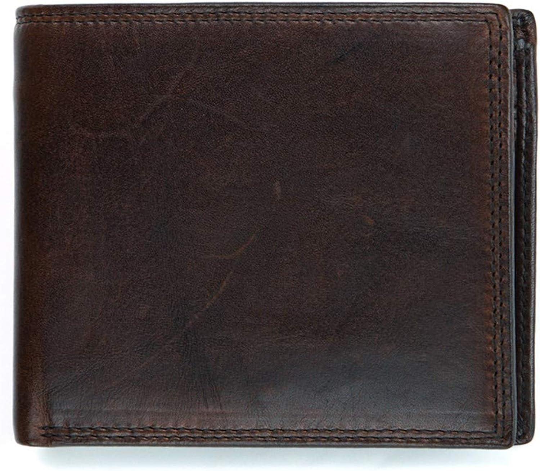 LMSHM Brieftasche Leder Herren Portemonnaies Portemonnaies Portemonnaies Splice Geldbörse Herren Portemonnaie, Dunkler Kaffee, 12  10  2,5 cm B07LD63NY3 7e52b5