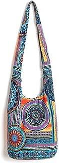 Tie Dye Hippie Bag Cross-Body Baja Sling Bag in Classic Baja Jacket Fabric Bohemian for Men or Women