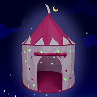 EnHoHa Princess Castle Play Tent for Kids Toys Glow in The Dark Stars Princess Tent for Princess Toys Indoor & Outdoor Use Portable Girls Toys
