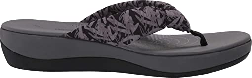 Black/Grey Floral Textile