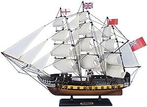 Hampton Nautical Wooden HMS Surprise Master and Commander Model Ship, 24