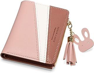 Portefeuille Femme JOSEKO Sac d'argent Porte-Cartes Porte-Monnaie pour Femmes et Dames avec Glands en métal Pendentif Rose...