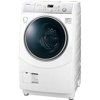 シャープ ドラム式 洗濯乾燥機 ヒーターセンサー乾燥 右開き(ヒンジ右) ホワイト系 洗濯10kg/乾燥6kg 幅640mm 奥行729mm DDインバーター搭載 10kg ES-H10C-WR