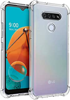 Osophter for LG K51 Case,LG Reflect Case Clear Flower for Girls Women Transparent Reinforced Corners TPU Shock-Absorption Flexible Cell Phone Cover for LG K51(Clear)