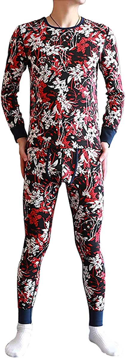 Queenbox Thermal Underwear Top and Bottom Set for Men