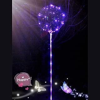 Jeeke Reusable Sparkle Balloons LED Light Balloons Party Wedding Colorful Balloons Decoration (Purple, 1 LED Balloon)