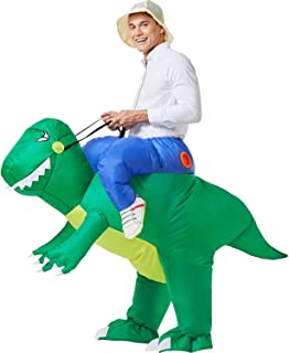 YEAHBEER Inflatable Dinosaur Costume T-Rex Fancy Dress Halloween Blow up Costumes