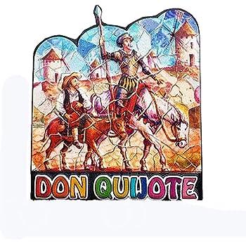Imán 3D para nevera Don Quijote España para regalo de viaje, regalo para decoración del hogar y la cocina, imán para nevera de España: Amazon.es: Hogar