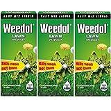Weedol Herbicida líquido para césped o jardín (mata las malas hierbas) 500ml (1.5litros) Pack de 3