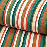 Outdoor Tessuto per sedia a sdraio Righe longitudinali, 44 cm – verde — Vendita al metro da 0,5m — Oeko-Tex Standard 100 Classe II — per cucire Decorazione/Arredo, copriletto e sedute