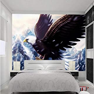 Dalxsh  3D Wallpaper Majestic Snow Mountain Eagle 3D Wall Murals Wallpaper Hotel Lobby Bedroom Backdrop Decorative-200X140Cm