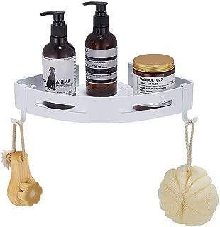 Hoomtaook Estantería de Esquina para Baño Ducha, Autoadhesivo, Aluminio, Acabado Mate, Estantes Blanco 1 Piezas