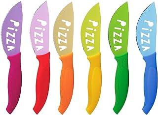 Brunch Time Lot de 6 couteaux à pizza Multicolore.