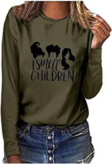 Women Fashion Plus Size Print Round Neck Long Sleeved T-shirt Blouse Tops