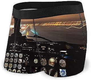 Web--ster Ropa Interior Transpirable para Hombres Aviones Piloto y física Calzoncillos Boxer cómodos Talla XL