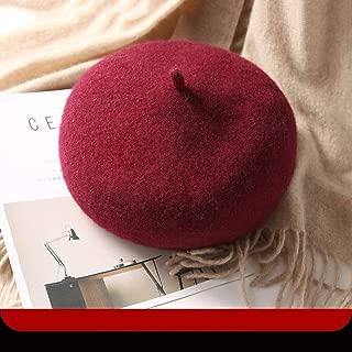 YANGBM Ladies Hat Autumn and Winter Wool Blend Chapeau, Retro Warm Hat, Painter Headdress, Gift BB Clip, Can Fix The Hat (Color : E)