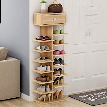 LINlizhong Estantes para zapatos de madera con cajones ...