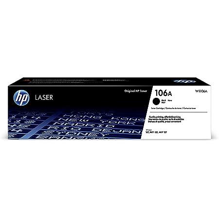 HP 106A W1106A Cartuccia Toner Originale da 1000 Pagine, Compatibile con Stampanti LaserJet Serie 100 e Laserjet Serie MFP 130, Nero