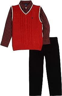 Boys' 3-Piece Sweater Vest, Dress Shirt, and Pants Set