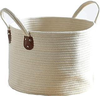 Panier à linge avec poignée exquise, panier à linge en coton, boîte de rangement durable, panier à linge sale (couleur : A)