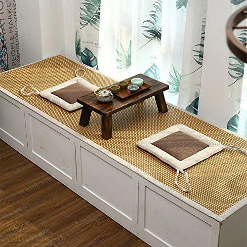 LIUZEIMIN Sommer-Rattan Teppich,Baby Krabbeln Matte Matt mat Wohnzimmer Schlafzimmer Fenster Kissen-A 180x200cm(71x79inch)