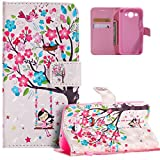 HMTECH Huawei Y3 2017 Case 3D Cute Swing Girl Colorful