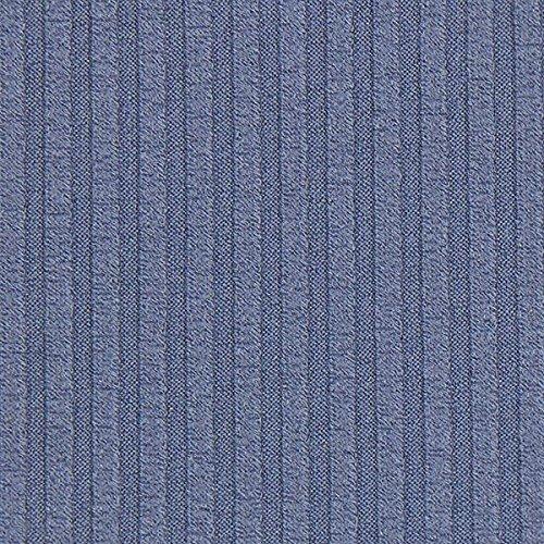 Fabulous Fabrics Strickstoff Feinstrick Rippe – Jeansblau — Meterware ab 0,5m — zum Nähen von Pullover und Strickjacken