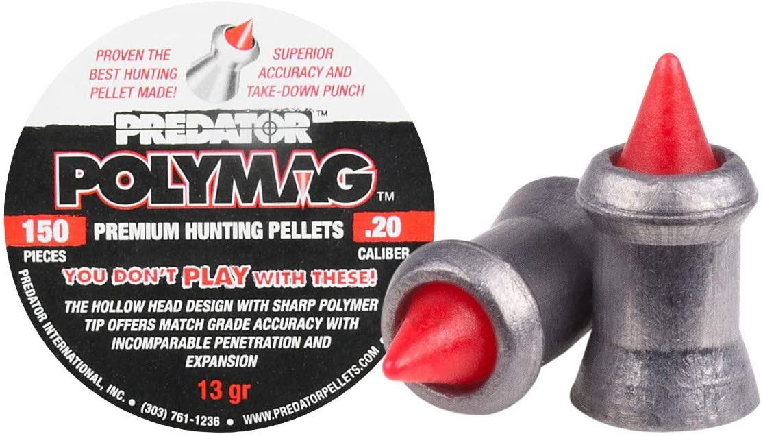 Polymag Predator Air sold out Gun Gray Time sale Caliber Pellets red.20