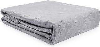 softan Minky Bettbezug für gewichtete Decken 150x200cm -Grau, Gesteppt