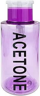 PANA Brand 10oz. (Quantity: 1 Pieces) Acetone Labeled Liquid Push Down Pump Dispenser Bottle with Flip Top Cap (PURPLE)