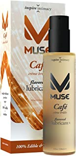 Muse Cafe Creme Brulee Flavored Lubricant, 4 Ounce Premium Edible Flavored Sex Lubricant for Men, Women and Couples (Made Without Parabens and Sugar)