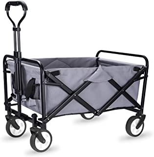 WHITSUNDAY Collapsible Folding Garden Outdoor Park Utility Wagon Picnic Camping Cart with..