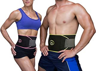 Adjustable Weight Loss Trainer Belt Abdominal Fat Burner Muscle Workout for Men /& Women Reehut Waist Trimmer Belt Include Carrying Case