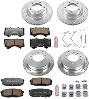 Power Stop K2813-36 Z36 Truck & Tow Front and Rear Brake Kit