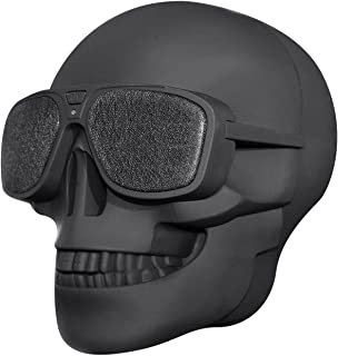 $22 » Wireless Portable Speaker,6D Surround Sound Skull Head Bluetooth Speakers, 8W Output Bass Stereo with DSP,Halloween Speake...