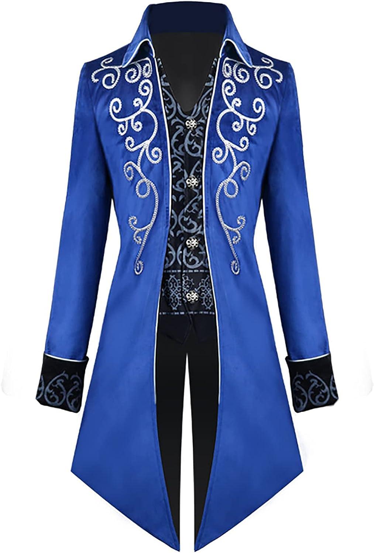 Men Overseas parallel import regular item Max 55% OFF Halloween Costumes Medieval Steampunk Tailcoat Renaissance