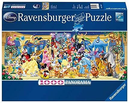 Ravensburger Puzzle 1000 Piezas, Personajes Disney, Puzzle Disney Panorama, Rompecabezas Ravensburger de óptima calidad, Edad Recomendada 12+