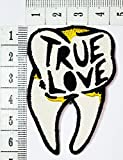 True Love tooth Oldschool Rockabilly Tatoo Old School Punk patch Motorcycle Bike Iron patch / Sew On Patch Clothes Bag T-Shirt Jeans Biker Badge Applique