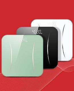 Báscula Corporal Electrónica Báscula De Baño Digital Plataforma De Cristal De Alta Seguridad, Pantalla LED Invertida Y Capacidad Máxima De 180kg. (Color : White)