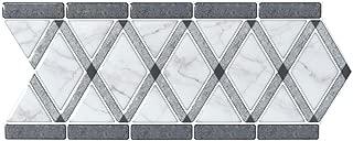 LONGKING Peel and Stick Backsplash Decortaive Tile Stickers Waist Line Retro Mosaic Wall Sticker Kitchen Cabinet Toilet Border, 12.4x5 inches(10 Sheets)