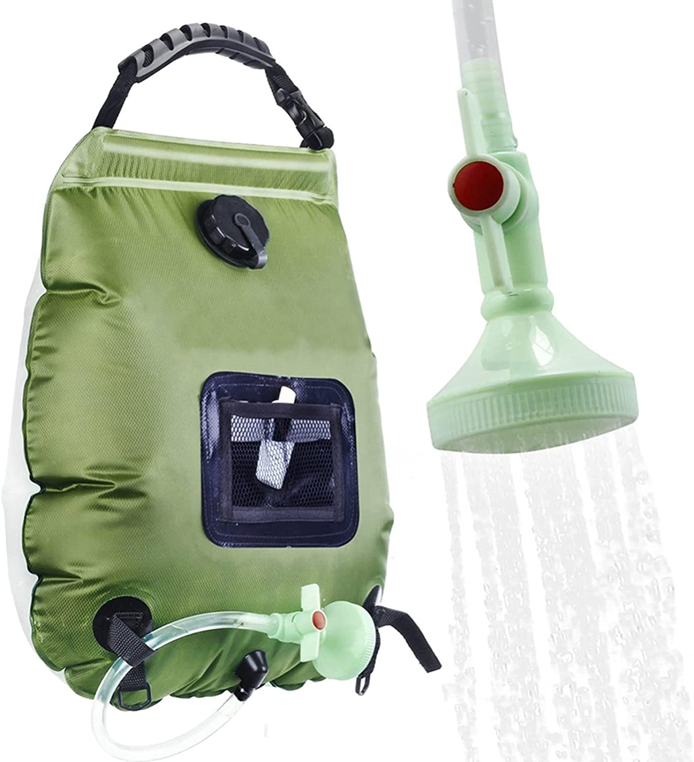 Solar Oakland Mall Shower Online limited product Bag Hua Outdoor 20L Camping Porta